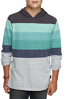 Ocean Current Striped Jersey Hoodie Boys 8-20