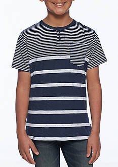 Ocean Current Stripe Henley Boys 8-20