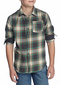 Ocean Current Plaid Woven Shirt Boys 8-20