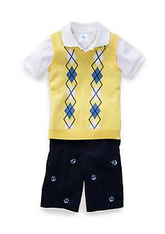J. Khaki 3-Piece Sweater Short Set Boys 4-7