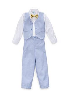 J. Khaki 3-Piece Seersucker Vest Set Boys 4-7