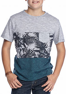 Red Camel Blocked Palm Print Tee Boys 8-20