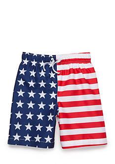 J. Khaki Americana Swim Trunks Boys 4-7