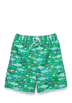 J. Khaki Swim Trunks Boys 4-7