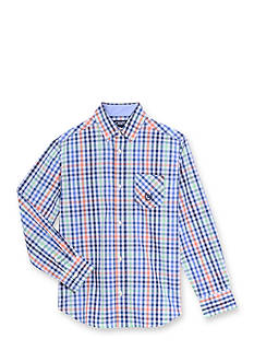 Chaps Multi Tatteral Woven Button Front Shirt Boys 4-7