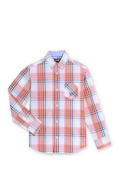 Chaps Plaid Button-Front Shirt Boys 4-7