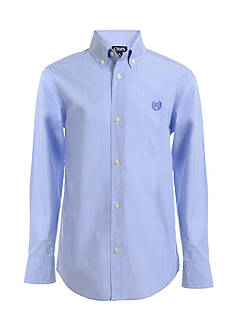 Chaps End on End Woven Button-Front Shirt Boys 4-7