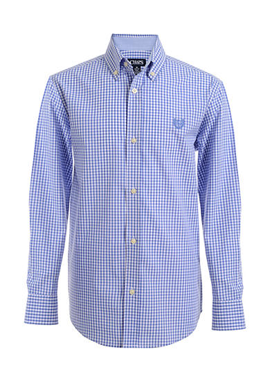 Chaps Gingham Woven Button-Front Shirt Boys 4-7