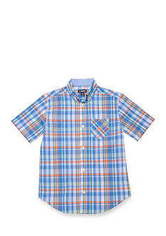 Chaps Madras Button-Front Shirt Boys 4-7