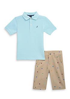 Nautica 2-Piece Polo & Short Set Boys 4-7