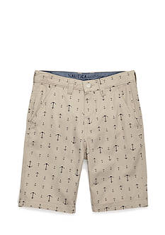 Nautica Anchor Print Flat Front Shorts Boys 8-20
