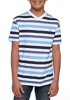 Nautica Stripe V-Neck Tee Boys 8-20