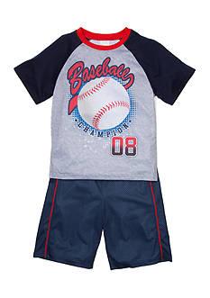 Jellifish Kids Graphic Top and Short 2-Piece Pajama Set Boys 4-20