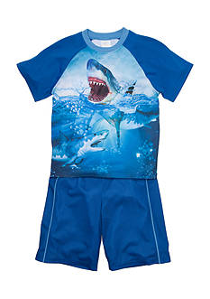 Jellifish Kids Graphic Top and Short 2-Piece Pajama Set Boys 4-20