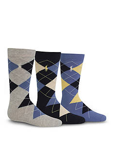 Ralph Lauren Childrenswear 3-Pack Argyle Dress Socks Boys 4-20