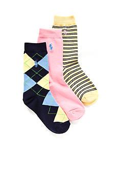 Ralph Lauren Childrenswear 3-Pack Gentsy Argyle Trouser Socks