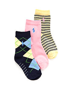 Ralph Lauren Childrenswear 3-Pack Fashion Gentsy Argyle Socks