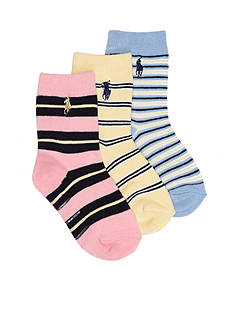 Ralph Lauren Childrenswear 3-Pack Fashion Gentsy Stripe Socks