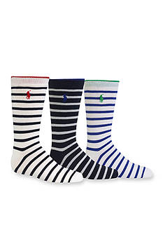 Ralph Lauren Childrenswear 3-Pack Stripe Socks Boys 4-20