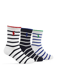Ralph Lauren Childrenswear 3-Pack Striped Socks Toddler Boys
