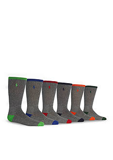 Ralph Lauren Childrenswear 6-Pack Sport Crew Socks Boys 4-20