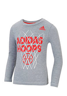 adidas Hoops Long Sleeve Tee Boys 4-7