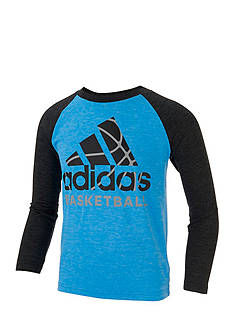 adidas Basketball Performance Raglan Tee Boys 4-7