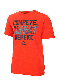 adidas 'Compete, Defeat, Repeat' Tee Boys 4-7