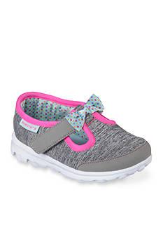 Skechers Go Walk Bitty Bow Shoe - Girls Toddler Sizes