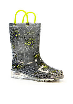 Western Chief Spider Prey Light Up Rain Boot- Infant/Toddler/Youth Sizes