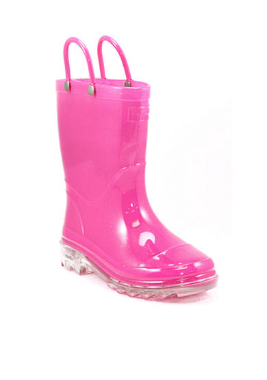 Western Chief Pink Light-up Rain Boot - Toddler/Youth Girl Sizes 8-1