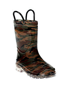 Western Chief Light Up Rain Boot - Boy Infant/Toddler/Youth Sizes 8 - 1