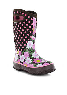 Bogs Classic Flower Dot Boot - Girl Infant/Toddler/Youth Sizes 7 - 6 - Online Only