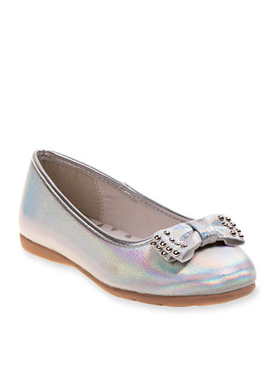 Josmo Iridescent Ballerina Flat With Bow - Toddler/Youth