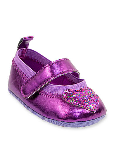 Laura Ashley Glitter Heart Ballerina Flat - Infant