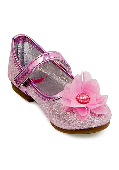 Rugged Bear Glitter Flower Flat - Toddler