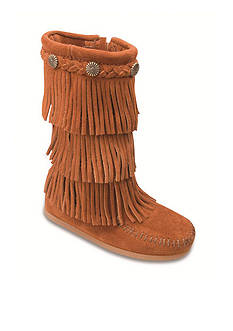 Minnetonka 3-layer Fringe Boot - Kids sizes
