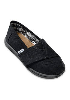 TOMS Classics Black Slip on Shoe - Infant/Toddler Sizes