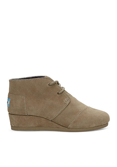 TOMS® Desert Wedge Bootie - Toddler/Youth Sizes