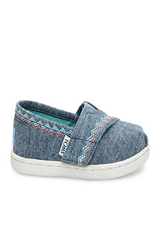 TOMS Classics Embroidery Slip On - Infant/Toddler Sizes