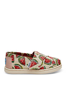 TOMS® Glitter Watermelon Alpargata Shoe - Girls Infant/Toddler Sizes