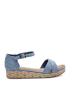 TOMS® Harper Wedge Sandals - Girls Youth Sizes
