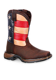 DURANGO® Lil Rebel Flag Western Boot- Youth Sizes