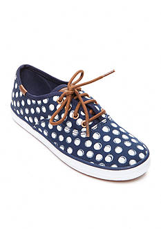 Keds Champion Navy Dots Sneakers - Youth Sizes