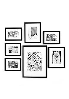 Burnes of Boston Gallery Perfect 7-Piece Frame Set Kit - Black