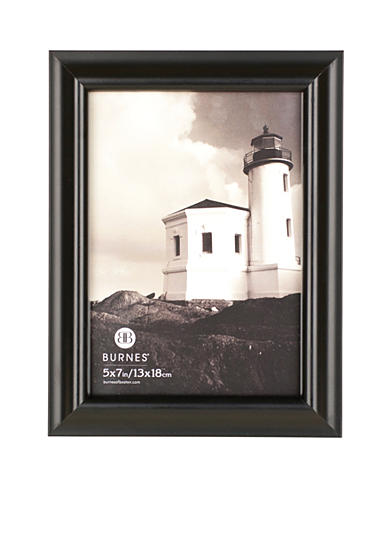 Burnes of Boston Domed Wood Black 5x7 Frame