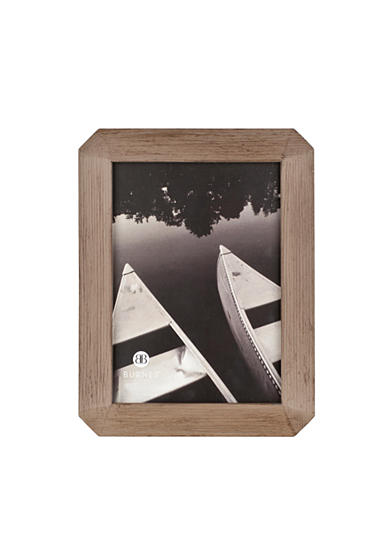 Burnes of Boston Octagon Wood Gray 4x6 Frame