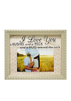 New View 'I love you a Bushel and a Peck' 4x6 Frame