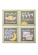 New View You Are My Sunshine Plaque (Set of 4)