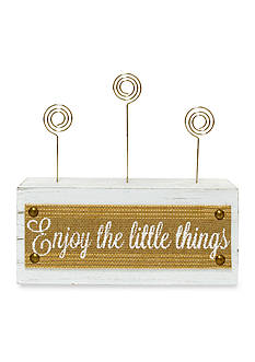 New View Enjoy the Little Things Burlap Ribbon Clip